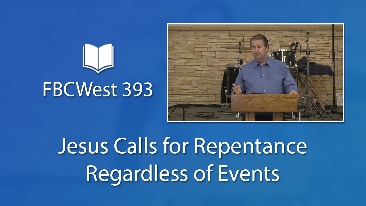 Jesus Calls for Repentance Regardless of Events | Poster