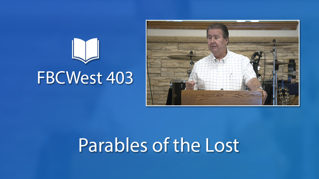 403 FBCWest | Parables of the Lost photo poster